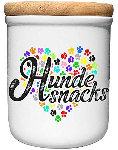 Cadouri Keramik Leckerli-Dose HUNDESNACKS┊Snackdose Keksdose Aufbewahrungsdose┊tolle Geschenkidee für Hundebesitzer