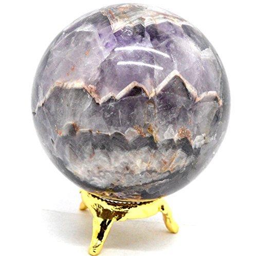 Natural Gemstone Sphere Ball Aura Balancing Metaphysical Ball Crystal Healing Ball Polished Stone 40-50, Amethyst