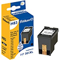 Pelikan 4108975 - Cartucho de tinta HP Deskjet 1000, 1010, 1050, 1510 - HP 301 XL - Negro