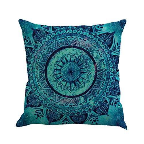 KMG Kimloog Hot Sale!Mandala Pillow Case Bohemia Design Indoor Outdoor Decorative Square Cushion Cover (A)