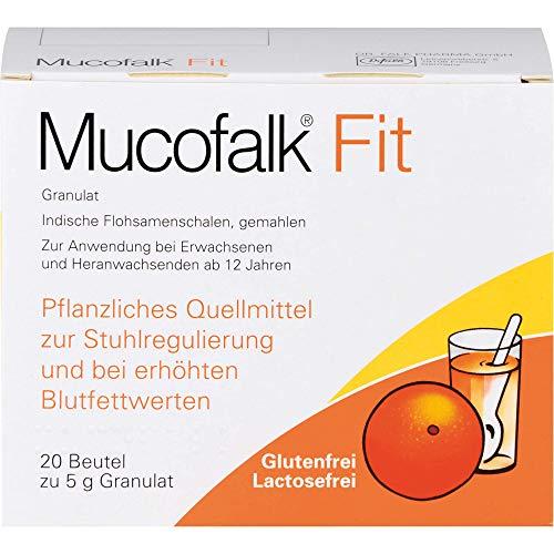 Mucofalk Fit Granulat zur Stuhlregulierung und bei erhöhten Blutfettwerten, 20 St. Beutel