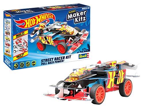 Revell Winning Formula 50311 Winning - Coche de Juguete (Escala 1:32, con Salto Hot Wheels Maker Kitz, para Montar y Conducir, con Motor retráctil (Pull Back), Color Negro y Rojo