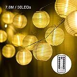 EKKONG Led Lichterkette,Verbesserte Version mit Fernbedienung und Timer, Lampion 30LEDs 7.8m Laterne Wasserdichte Gartenbeleuchtung,...
