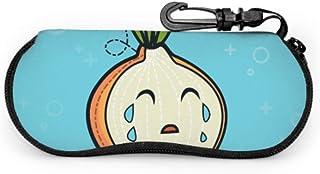 Wthesunshin Funda Gafas Dibujos animados sonriendo cebolla verduras niño Neopreno Estuche Ligero con Cremallera Suave Gafa...