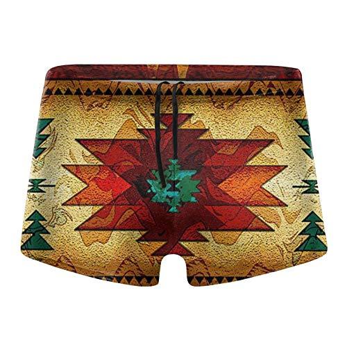 Herren Badehose Tribal Indianer Indianer Rot Badeshorts Badeanzug Gr. Verschiedene Größen, Schwarz