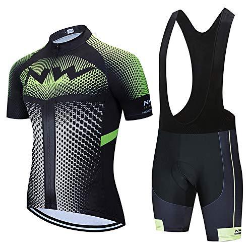 Abbigliamento Ciclismo da Uomo,Maglia Manica Corta+Pantaloncini,Cuscino Gel 5D,Ciclismo Moda Set Completo,Ciclismo Ciclismo Jerseys per Uomo,Ad Asciugatura Rapida Traspirante