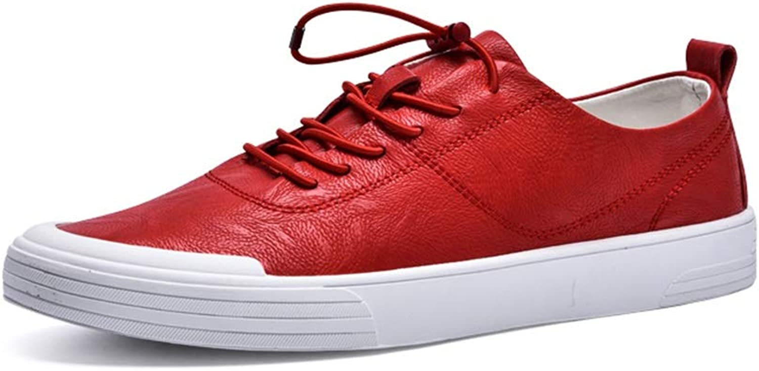 Ino Fashion Sneaker for Men Sports shoes Lace Up Style Microfiber Leather Soft Round Toe Simple Unadulterated Colours Lightweight