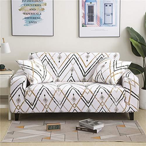 PPMP Funda de sofá elástica Floral Fundas de sofá para Sala de Estar Protector de Muebles de poliéster Fundas Funda de sofá A20 3 plazas