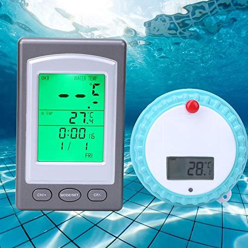 wosume 【𝐖𝐞𝐢𝐡𝐧𝐚𝐜𝐡𝐭𝐞𝐧 𝐍𝐢𝐞𝐝𝐫𝐢𝐠𝐬𝐭𝐞𝐫 𝐏𝐫𝐞𝐢𝐬】 Poolthermometer, drahtloses ferngesteuertes Wasserthermometer Industriematerial für Schwimmbäder/Fischteiche