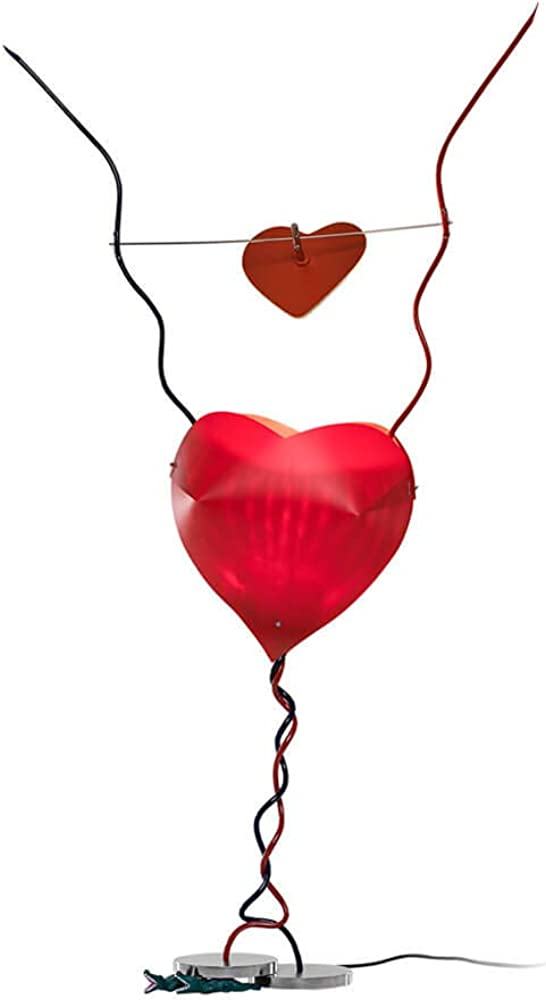 Ingo maurer one from the heart, lampada da tavolo, dimmerabile 220 volt 4070000