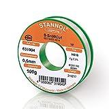 STANNOL Fil à souder type HS10 alliage TC Sn99Cu1 0,5 mm Bobine de 100 g