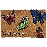 Briarwood Lane Welcome Butterflies Spring Coir Doormat Outdoor 18' x 30'