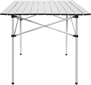 Deanurs Aluminum Folding Tables Camping Roll Up Portable Square Table for Outdoor Hiking Picnic,28
