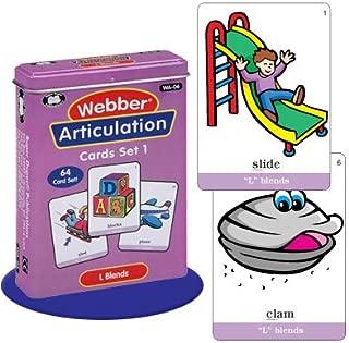 Super Duper Publications Webber Articulation L Blends Flash Card Deck Early Reader Educational Learning Resource for Children
