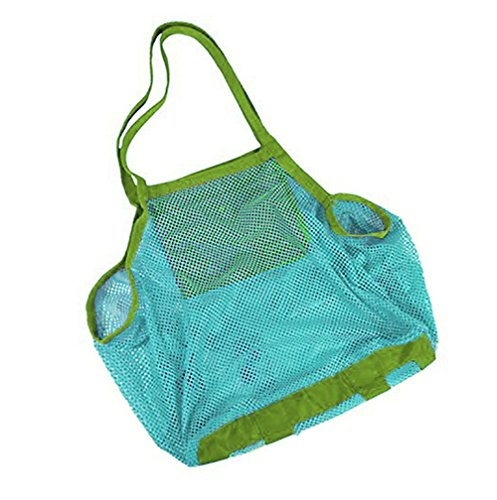WeiMay 1 grand sac de plage en maille filet pour le sable - Bleu