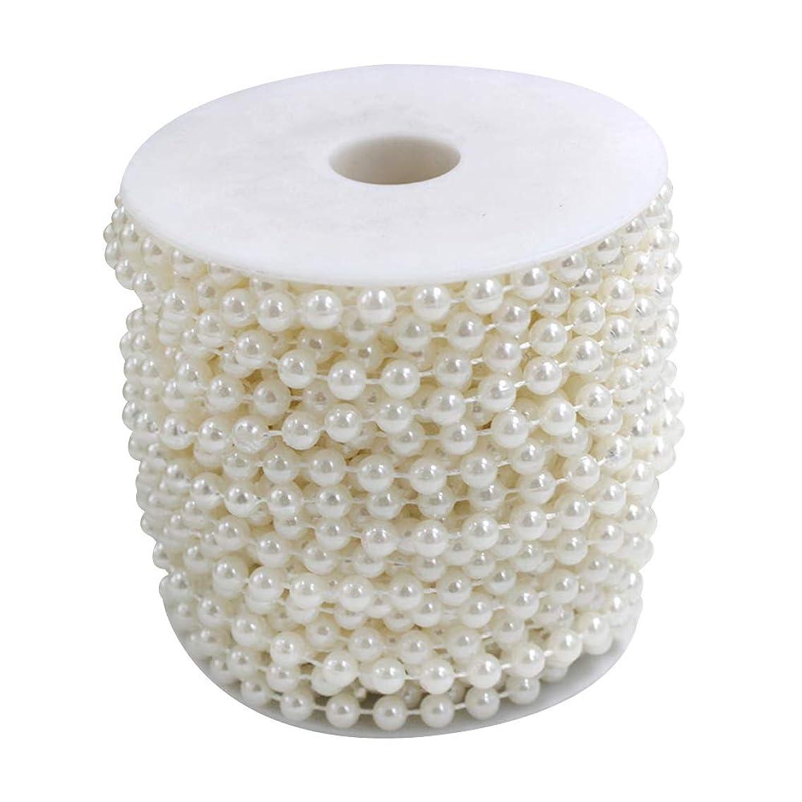 Wispun 6mm Pearl Bead Garland Spool Rope Wedding Centerpiece Decor 20M=65ft (white)
