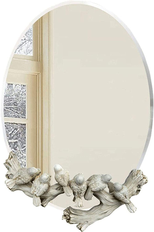 Bathroom mirror - European Elliptical Waterproof Wall-Mounted Mirror, a Shaving Mirror washbasin