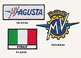 MV Agusta - Parche termoadhesivo, 3 unidades, diseño de moto italiana