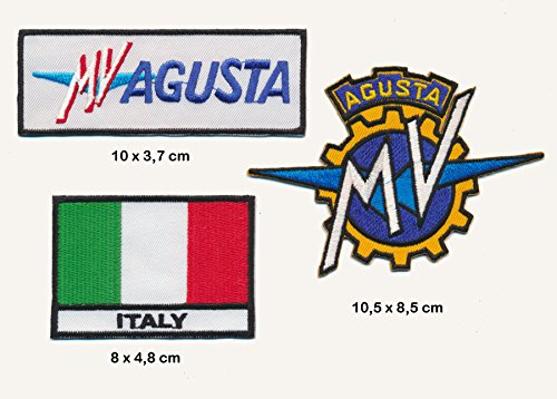 MV Agusta Aufnäher Aufbügler Patch 3 Stück Motorrad Italien TURBOVERSAND