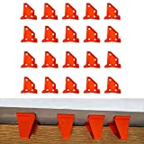 Flooring Spacers for w/Vinyl Plank, Hardwood & Floating Floor Installation etc. Laminate Wood Flooring Tools, Double Ends Different with 1/4 and 1/2 Gap, Special Triangle Stay in Place (20 packs)