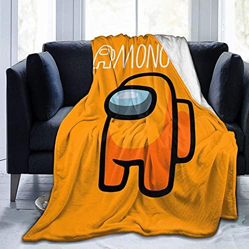 Among Us - Manta de peluche suave y divertida, juego divertido para sala de estar/dormitorio/sofá de 127 x 101 cm