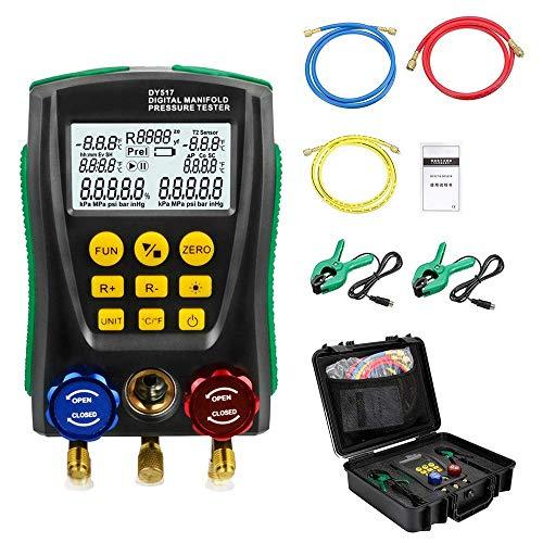 Sistema de refrigeración Digital HVAC, medidor digital de presión de vacío 101Kpa a 6Mpa, medidor de Fugas de Temperatura para Pruebas y Mantenimiento de Aire Acondicionado, refrigerador