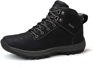 Axcone Chaussures Homme Bottes Hiver imperméable Neige Randonnee Chaudement Chaudes Fourrure Baskets Bottines - Noir Jaune...