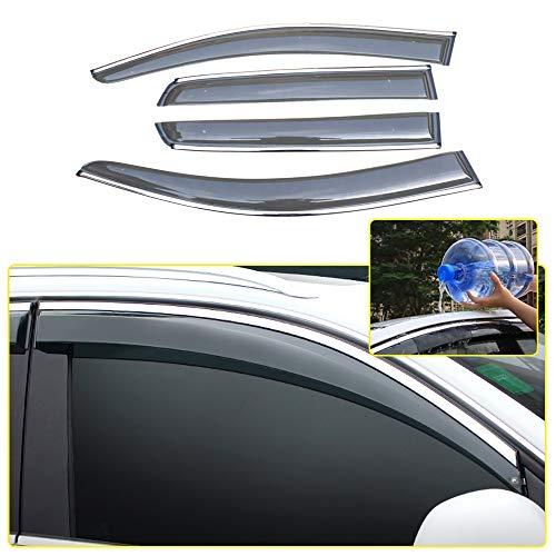 8X-SPEED AutoFenster Visier Für Golf 7 2014-2018 Windabweiser Regenabweiser Sonnenschutz Entlüftung Deflector 4 Stücke Auto Styling