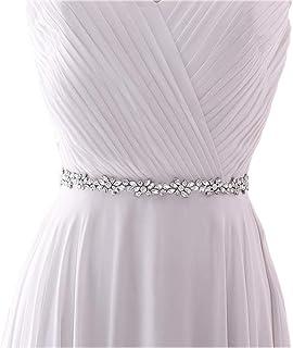 HONGMEI رقيقة الزفاف حزام حجر الراين الزفاف حزام إشبينة العروس وشاح اكسسوارات اللباس النساء