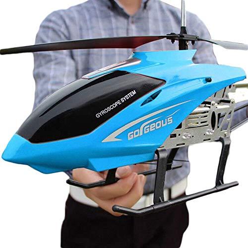 GKLHC 3.5CH Channel Aircraft Toy LED Aleación RC Helicóptero Estable Fácil de Aprender Buen Funcionamiento Helicóptero Juguetes voladores Niño Niña Regalo de cumpleaños 80cm