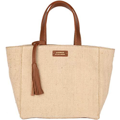 Loxwood - Piccola borsa Paris in tela e pelle, naturale, Taglia unica