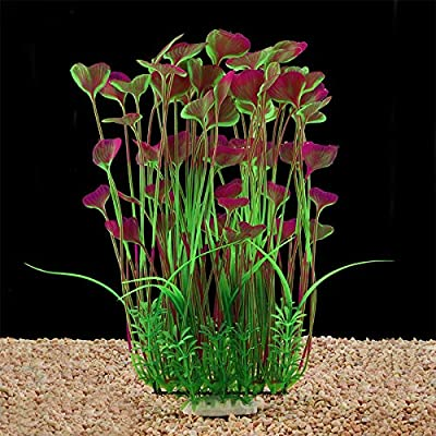 Large Aquarium Plants Artificial Plastic Fish Tank Plants Decoration Ornament Safe for All Fish 15.7(40cm) inch Tall 7.09(18cm) inch Wide by LYNKO