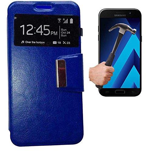Todobarato24h Funda Libro Ventana Compatible con Samsung Galaxy A5 2017 Azul +...