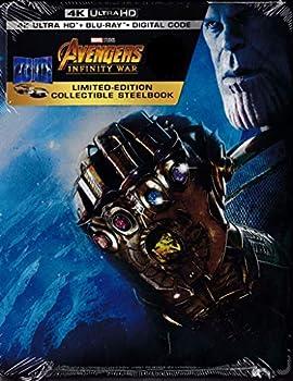 Avengers  Infinity War [SteelBook] [Digital Copy] [4K Ultra HD Blu-ray/Blu-ray]