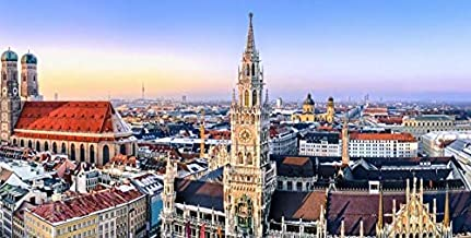 SJYYR Towers of The City Buildings in Munich, Germany 70 Pieces of Wooden Puzzle DIY Children's Adult Jigsaw Puzzle Game Entertainment Artist Residence Gift