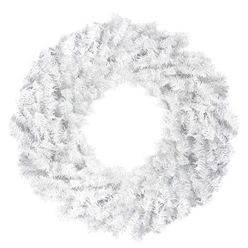 Northlight Unlit White Canadian Pine Artificial Christmas Wreath, 30