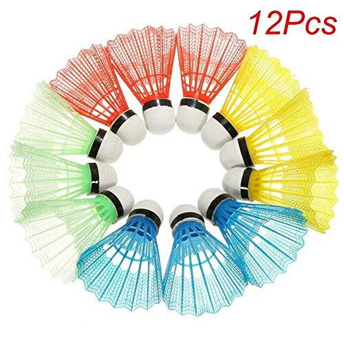 HY 12pcs Prodotti volani Portatili in plastica Colorata per Palline da Badminton per Forniture Sportive per Palline da Allenamento all'aperto