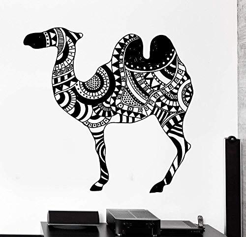 72x74cm PVC Yoga Calcomanía Animal Camel Desert Cool Tribal Calcomanía removible Vinilo Etiqueta de la pared