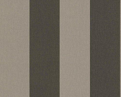 A.S. Création Vliestapete Elegance Tapete Blockstreifentapete 10,05 m x 0,53 m braun grau Made in Germany 179043 1790-43