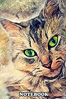 """Notebook: Cat Pixie , Journal for Writing, College Ruled Size 6"""" x 9"""", 110 Pages"""