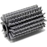 Grizzly Tools Cepillo de plástico con cerdas suaves, cepillo universal de metal, para eliminar malas hierbas, musgo y suciedad para piedra, hormigón, madera (cepillo de plástico grande)