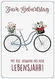 Geburtstagskarte Lifestyle - Fahrrad - 11,6 x 16,6 cm