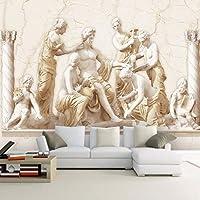 カスタム3D壁画壁紙ヨーロピアンスタイルローマのレリーフアート壁画リビングルーム研究ソファテレビ背景写真壁紙家の装飾, 250cm×175cm