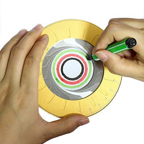 Aluminum Alloy Drawing Circles Geometric Tool - 5' Adjustable Diameter Circular Drawing Stencil 360 Degrees Ring Ruler Templates Tool