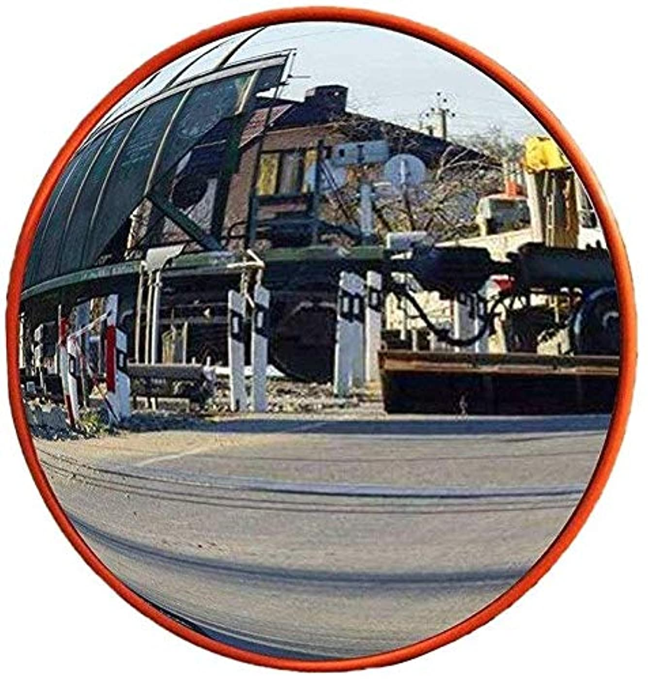 ジョージバーナード泣き叫ぶクルー街路安全凹面鏡、防雨飛散防止PCミラー耐久性のあるポータブル広角レンズ屋内ブラインドスポットミラー30-80CM(サイズ:45CM)