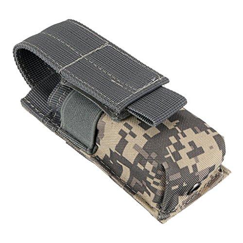 Toygogo Bolsa de Cintura Molle Resistente Impermeable Organizador de Linterna Colgante de Mochila Cinturón - ACU Camo