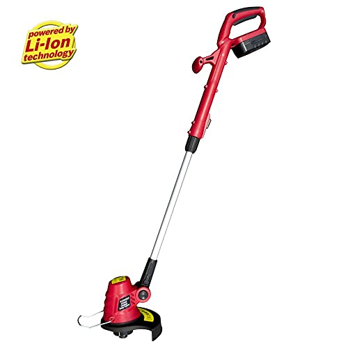Trueshopping ET2505 Lithium-Ion Lightweight Powerful Cordless Grass Trimmer Cutter with 18V Battery and Charger - Includes Adjustable Head, 23 Centimeter Cutting Path and Telescopic Handle