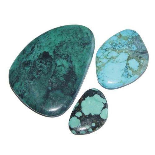 1 Stück Türkis echt Handschmeichler/Scheibenstein flach SUPER Qualität schöne Farbe ca. 25-30 mm.(2370)