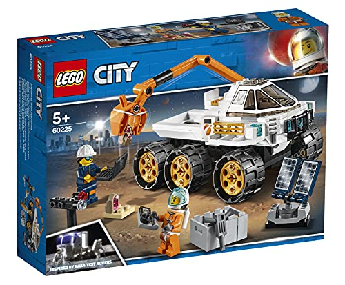 LEGO CitySpacePort ProvadiGuidadelRover, Set da Costruzione Avventure Spaziali,Macchinina Giocattolo per la Spedizione su Marte Ispirato alla NASA con Minifigura dell'Astronauta, 60225