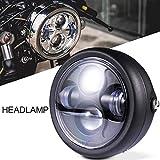 バイク ミニType プロジェクター LEDヘッドライト ユニット ケース一式 YBR125 SR400 TW200 SR125 TW225 XS250 ルネッサ SRV250 SRX250 SRX400 汎用